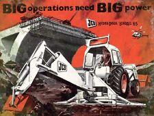 Jcb Grande Operations Necesidad Grande Potencia Acero Letrero (Og 2015)