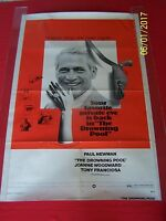 THE DROWNING POOL  Original 1975 OS Movie Poster - Paul Newman - Mystery