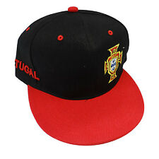 PORTUGAL BLACK RED FPF LOGO FIFA SOCCER WORLD CUP HIP HOP HAT CAP .. NEW