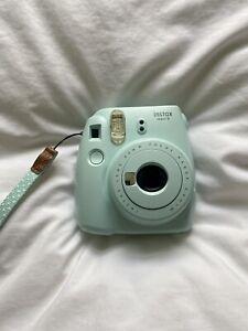 Fujifilm Instax Mini 9 Kamera Sofortbildkamera Vintage Retro Eisblau Ice Blue