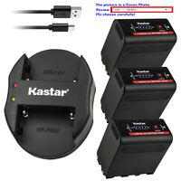 Kastar Battery Dual USB Charger for Atomos NP-F970 Battery Atomos Shogun Flame