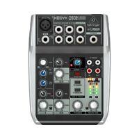 BEHRINGER xenyx Q502USB mixer audio professionale per live karaoke studio dj ec.