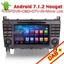 Android 7.1.2 Autoradio DAB+GPS Navi CD Für Mercedes Benz C/CLK Class W203 W209