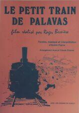 """""""LE PETIT TRAIN DE PALAVAS""""Affiche originale entoilée offset 1970 DUBOUT 39x54cm"""