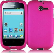 Huawei Ascend Y H866C Rubberized HARD Case Snap On Phone Cover Hot Pink