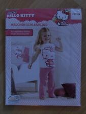 Sanrio Hello Kitty Schlafanzug Pyjama Weiß/Rosa Gr. 98/104 Neu&OVP