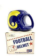 1986 Vintage Sports Concepts NFL Los Angeles Rams Souvenir Football Helmet Mug
