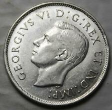 Canada 1944 Silver 50 Cents, Nice Grade, KGVI