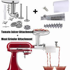 Meat Grinder Attachment&TOMATO Juicer SAUCE MAKER STRAINER For Kitchenaid