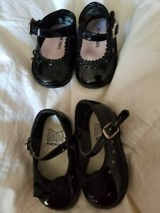 Small steps black patton leather shoes size 2 sesame street 0