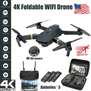 Drone X Pro WIFI FPV 4K HD Camera 3 Battery Foldable Selfie RC Quadcopter Drone@