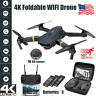 Drone X Pro WIFI FPV 4K HD Camera 3 Battery Foldable Selfie RC Quadcopter Drone@