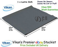 Vikan Microfibre Lustre Cloth x 1 Glass, Mirrors, Tiles, Stainless, Grey: 691540