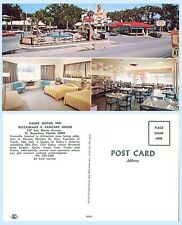 Palms Motor Inn Pancake House St Augustine Florida Advertising Postcard Signage