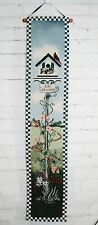Summer/Spring Cotton Tapestry Wall Hanging Bell Pull - Birdhouse Morning Glory