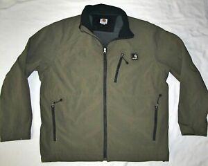 Carhartt Military Green Soft Shell Heavy Duty Jacket Coat Mens Size Extra Large