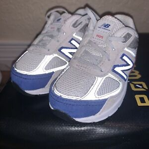 """Baby New balance 990V5 shoes sz 4 infant sneakers gray Red Blue """"running"""""""