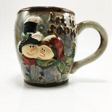 Let It Snow Snowman Glazed Pottery Mug