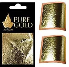 10 x 4.5cm  24k GOLD LEAF SHEETS LEAVES GILDING NAIL ART CRAFT SUPPLIES