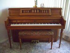 Kimball Artist Console Ornate Oak Piano & Matching Bench