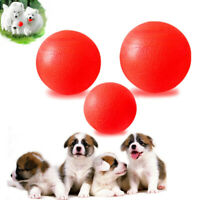 Indestructible Solid Rubber Ball Pet Dog Toy Training Chew Play Toy 3 Sizes