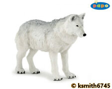 Papo ARCTIC WOLF solid plastic toy wild animal white dog predator * NEW *💥