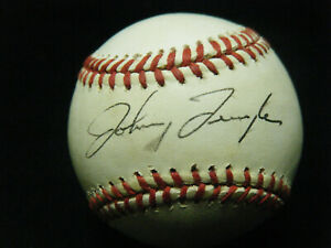 Vintage Johnny Temple (D-1994) 6x All Star Reds signed NL Giamatti baseball