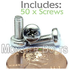 M3 x 8mm - Qty 50 - Stainless Steel Phillips Pan Head Machine Screws DIN 7985 A