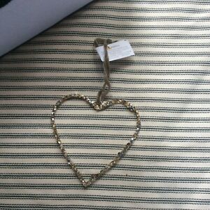 The White Company Glittery Heart Hanging Decoration BNWT