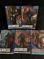gi joe classified series 6 Inch 5 Figure Lot. Cobra Commander Snake Eyes Zartan