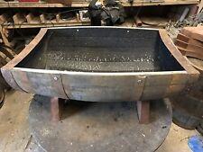 Solid Whisky Barrel oak planter/tub/cradle/trough