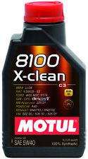 1 Litro Motul 8100 X-Clean 5W40 Olio Motore Sintetico  C3 VW 502 00 505 00 505