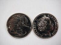 2008 20 Cent Coin Australia Ex Roll/Bag UNC T-155