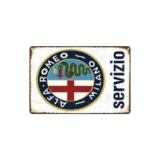 PLAQUE MÉTAL  ALFA ROMEO  30 X 20 CM