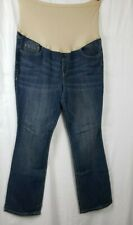 Old Navy Jeans Maternity Bootcut Womens Size 16 Reg Jeans Medium Wash Full Panel