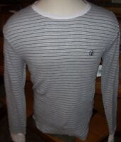 NEW Volcom gray white stripe thermal long sleeve warm t shirt Large or XL