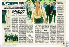 Coupure de presse Clipping 1985 (2 pages) Film Witness Harrison Ford