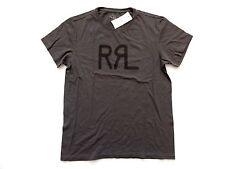 New Ralph Lauren RRL 100% Cotton Vintage Taupe Logo T Shirt Slim size M