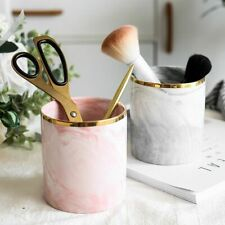 Marble Makeup Brush Holder Cup Pen Organizer Artist Cute Vintage Ceramic Nordic