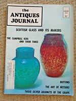 Antiques Journal 1973 Buttons Netsuke American Federal Furniture Silver Wine Cup