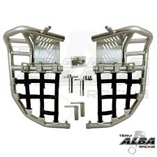 Yamaha Raptor 660  Nerf Bars  Pro Peg Heel Gaurds  Alba Racing  Silver Black 203