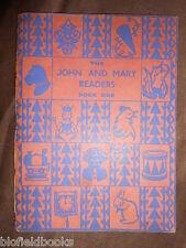 John & Mary at the Farm by E Ashley, c1940s Children's Reader, E L Turner Illst