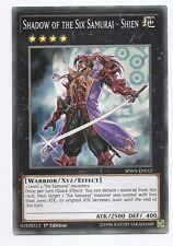 Shadow of the Six Samurai - Shien SPWA-EN012 Super Rare Yu-Gi-Oh Card 1st New
