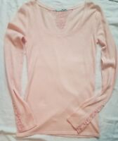 Maurices Thermal Waffle Weave Top Shirt , Lace Inset Size S Small NEW