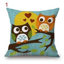 BN lovely owl cushion cover LINEN COTTON