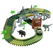 Race Track Dinosaur World Bridge Create 14 Piece Flexible Playset s Dinosaurs