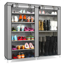 Double Rows Home Shoe Rack Shelf Storage Closet Organizer Cabinet Portable Cover