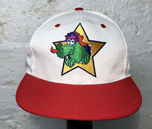 Rare NOS Vintage 1990s Phillies Phanatic Mascot Baseball Snapback Cap Hat 🚀