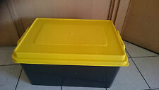 5 X 72 LT Plastic Storage Containers Strong Crate Bin Boxes 72L