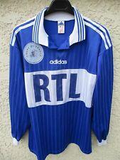 Maillot COUPE DE FRANCE porté n°3 bleu RTL vintage ADIDAS trikot shirt maglia XL
